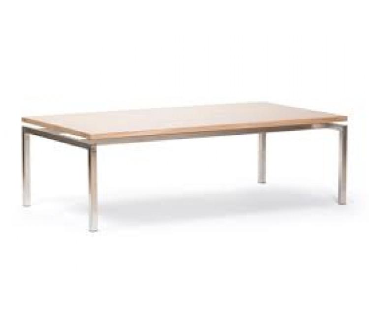 Fremragende Hvidolieret sofabord i eg med stål stel. RS67