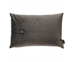Louise Smærup taupe velvet pude 60x40 cm