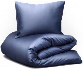 Hästens sengetøj Satin Pure Night Shadow Blue