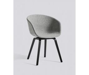 HAY About a Chair 22 fuldpolstret Hallingdal 130 sort grå
