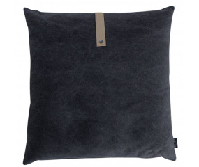 Louise Smærup Black Canvas pude 65x65