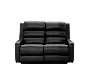LAZBOY 2 personer sofa med 2 indbyggede fodskamler