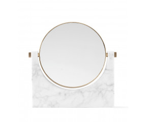 Menu Pepe Marble Mirror, Brass White