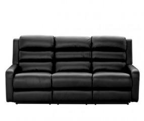LAZBOY lædersofa med 2 indbyggede fodskamler og midterkonsol