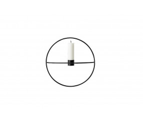 Menu POV Circle Tealight Candleholder S, Black