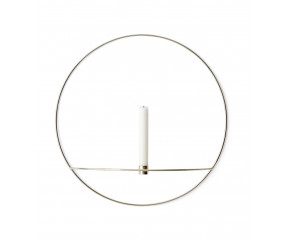 Menu POV Circle Candleholder L, Brass