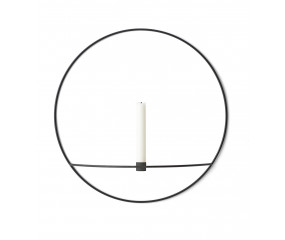 Menu POV Circle Candleholder L, Black