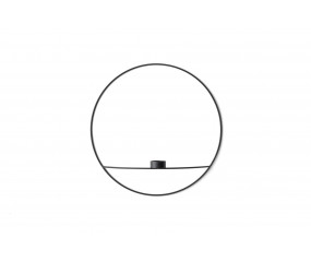 Menu POV Circle Tealight Candleholder L, Black