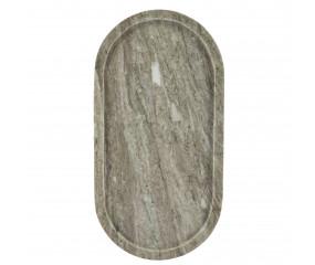 Cozy living Marmor bakke, oval beige