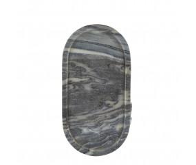 Cozy living Marmor bakke, oval grey