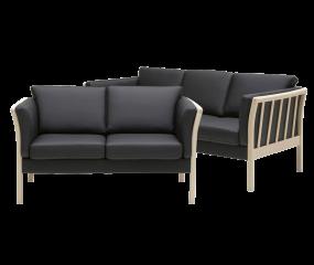 Skalma Admiral 3+2 sofasæt i ELMO læder