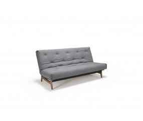 Aslak spring sovesofa grå