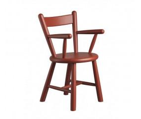 Børnestol designet af Børge Mogensen rød