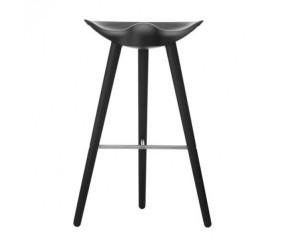 By Lassen ML42 barstol, sortbejset bøg, stål