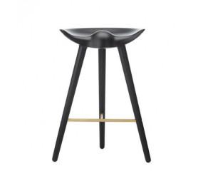 By Lassen ML42 stol, sortbejset bøg, messing