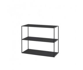 By Lassen Twin Bookcase, sort med sort/hvide hylder