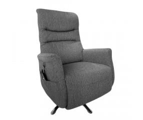 Camilla Hæve/Sænke lænestol, grå stof