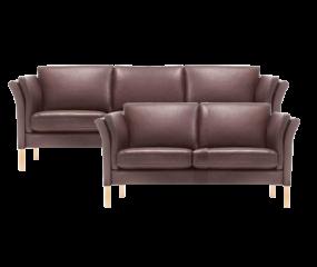 Skalma Captain 3 & 2 sofasæt i ELMO læder