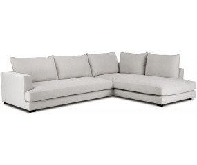 COZY 2,5 med open end sofa, lys grå