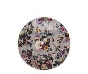 Essenza Fleur grå rundt tæppe