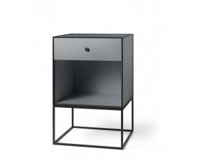 By Lassen Frame 49, sidebord,mørk grå