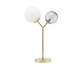 Twice bordlampe messing og opal glas