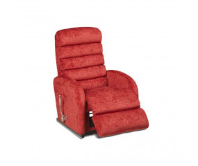 LA-Z-BOY Houston lænestol indbygget fodskammel - rødt læder