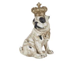 Banhe figur hund med krone