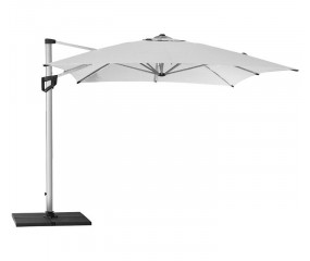 Hyde luxe sidehængt parasol inkl. fod