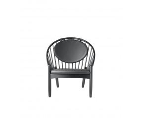 FDB J166 Jørna lænestol design Poul M. Volther eg, sort eg sort læder