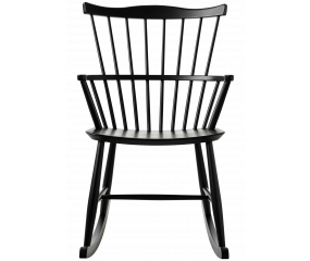 J52G gyngestol design af Børge Mogensen, sort