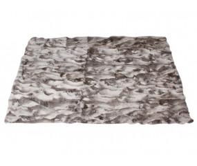 Kaningulvtæppe eller plaid  i naturgrå kaninskind 180x120 cm.