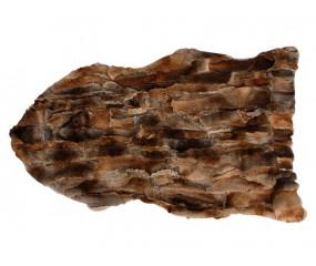 100 % ægte kanin skind i natur brun. 115x65 cm.