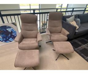 2 Luxor lænestole m fodskamler