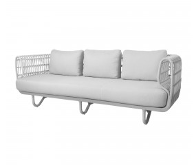 Cane-Line Nest 3 pers. hvid sofa - Outdoor