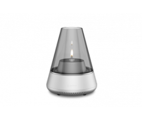 Kooduu Nordic Light Pro Olie/LED lampe med højtaler Sølv