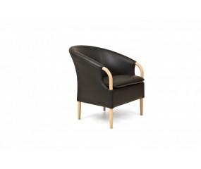 Nielaus Opus stol i sort læder