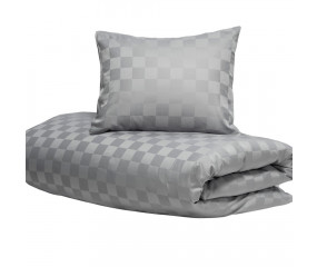 Hästens Sengetøj Satin Check Grey