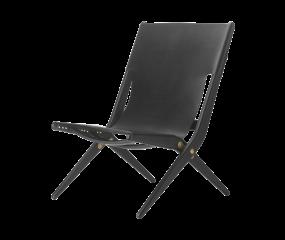 By Lassen Saxe stol, sort læder