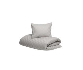 Hästens sengetøj Satin Check Silver Grey