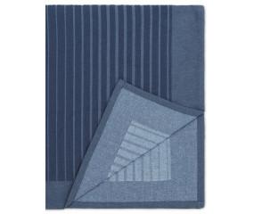 Normann Slumber sengetæppe, Fading Stripes mørkeblå