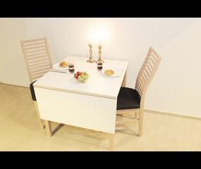 Varde spisebord med udtræk og tillægsplade