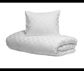 Hästens sengetøj Satin Check White