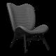 UMAGE A conversation piece høj lænestol, sort eg slate grey